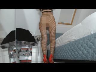 Arsch, Beine, Fetisch, Fussfetisch, Posing, Pussy, Solo, Netzstrümpfe